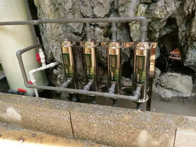 绿点净水东莞别墅鱼池用水过滤系统装机完毕